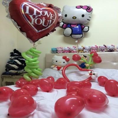חדר אהבה מבלונים